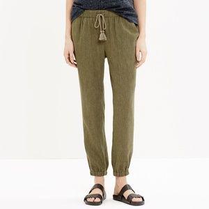 Madewell Shorewalk Linen Blend Joggers Pants